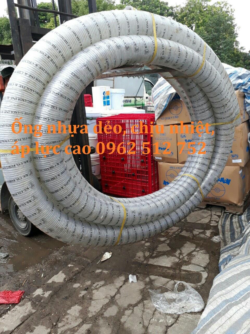 Ống nhựa mềm lõi thép Phi 114 hàn quốc