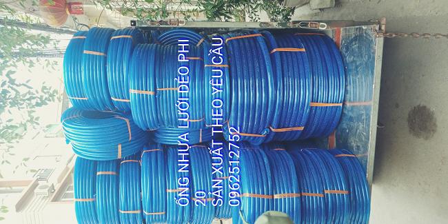 Ống nhựa lưới dẻo màu xanh phi 25