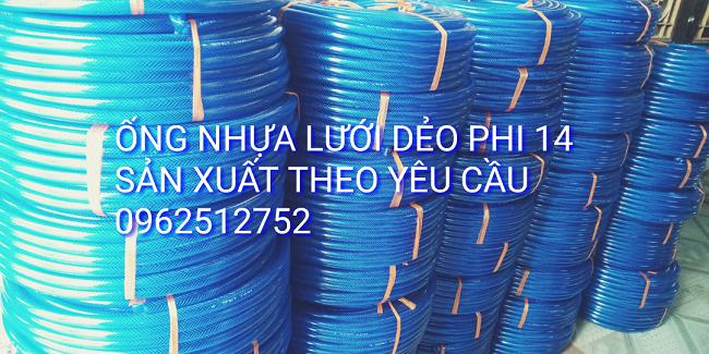 Ống nhựa lưới dẻo màu xanh mềm dẻo