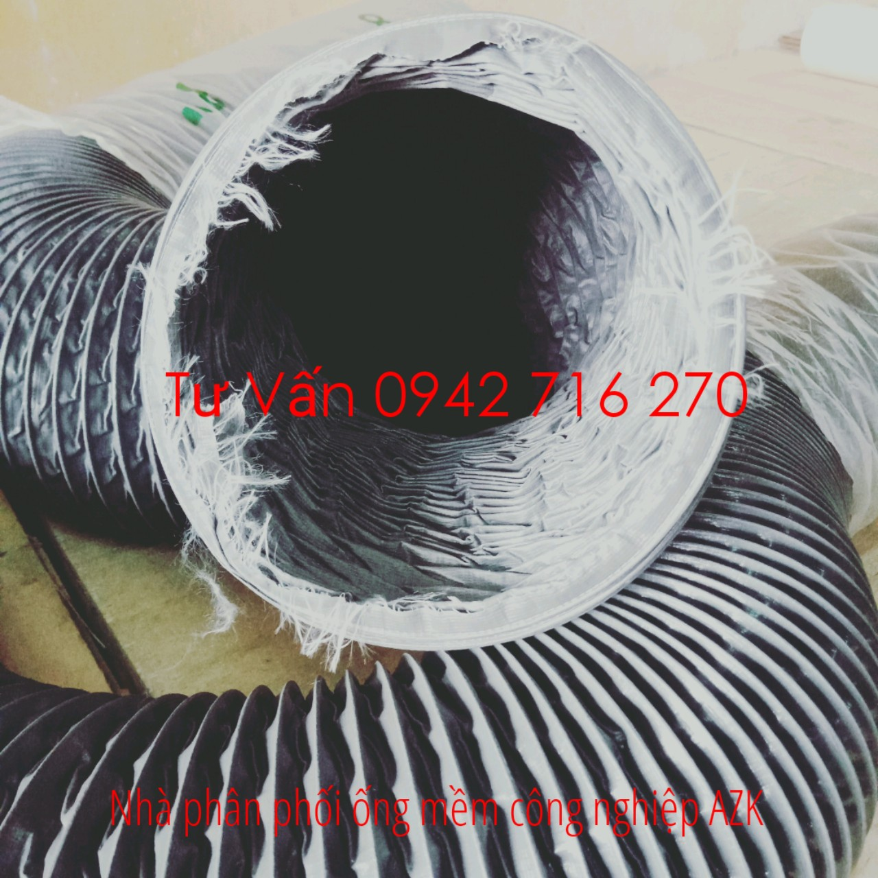 bán ống gió mềm vải simili chính hãng