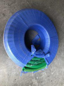 ống nhựa mềm lõi thép màu xanh phi 50